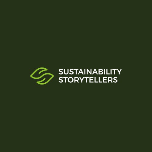 Clean organic logo for sustainability consulting: Sustainability Storytellers