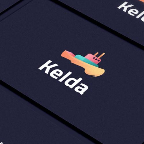 Kelda logo and business card