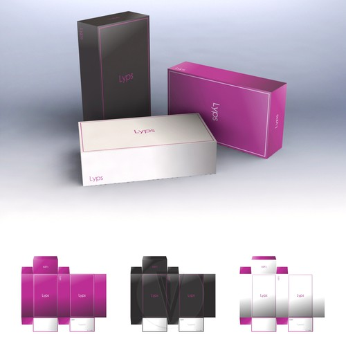 Packaging design for Lyps products