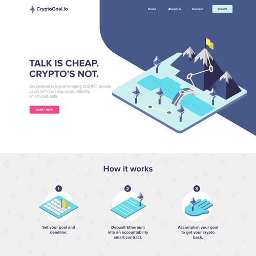 Website layout for CryptoGoal.io