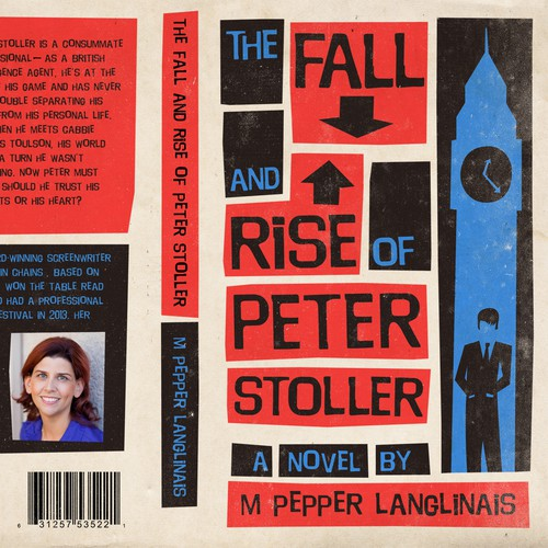 """Book Cover design for """"The Fall and Rise of Peter Stoller"""""""