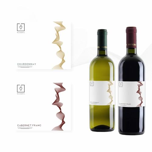 Label design for Manera Wines