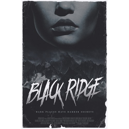 """Poster concepts for """"Black Ridge"""""""