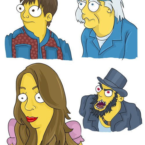 simpsons style characters2
