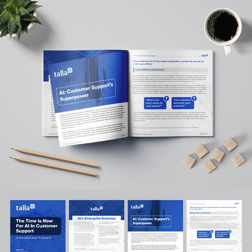 eBook designed for an AI company