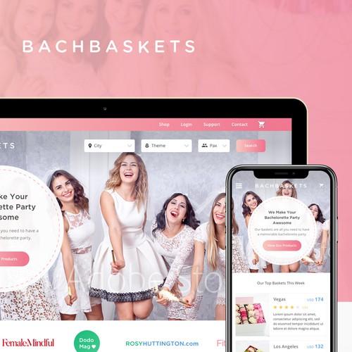 Website UI design for BachBaskets