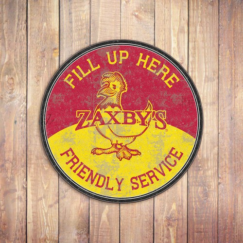 Vintage sign for Zaxby's
