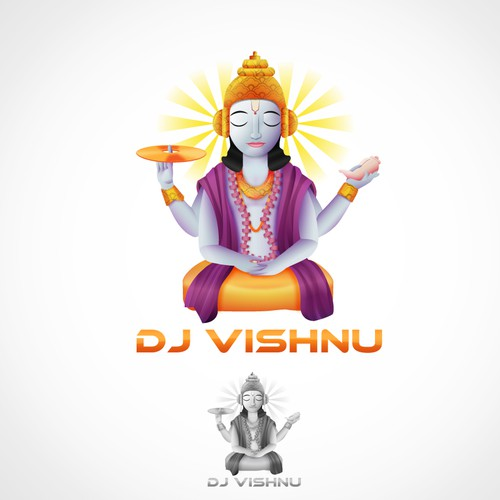 Create the next logo for dj vishnu