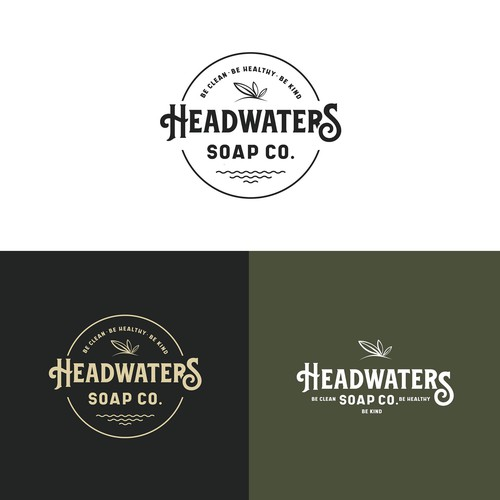 Headwaters - soap packaging and merchandise logo