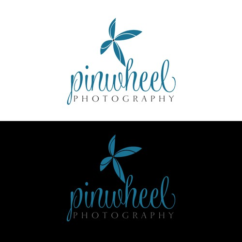 Design a whimiscal and elegant logo for Pinwheel Photography