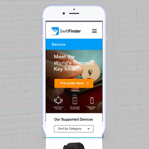 Re-design of Mobile Page for SwiftFinder