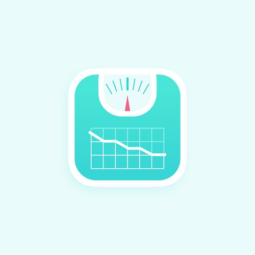 Design a beautiful, modern icon for a Weight Tracker app