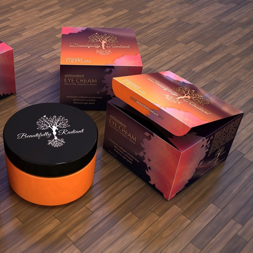 Create an amazing high quality eye cream box for Radiantly Beautiful!