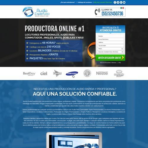 AudioExpertos Landing Page