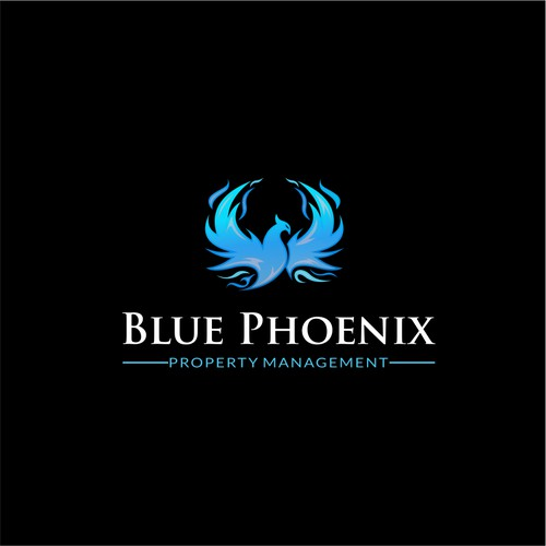 blue phoenix property management logo