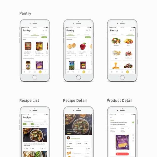 Cooklist App design