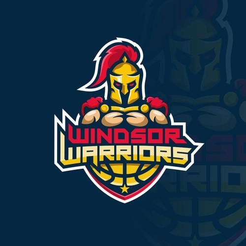 warrior logo concept for windsor warrior team sport