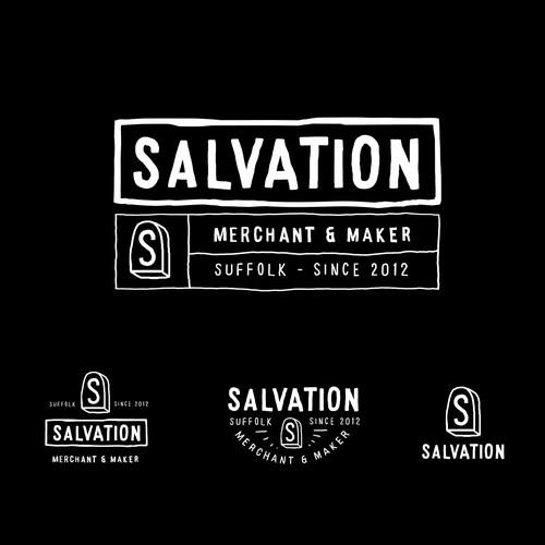 raw hand manual logo For SALVATION MERCHANT & MAKER