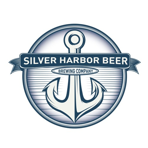 Silver harbor beer logo design