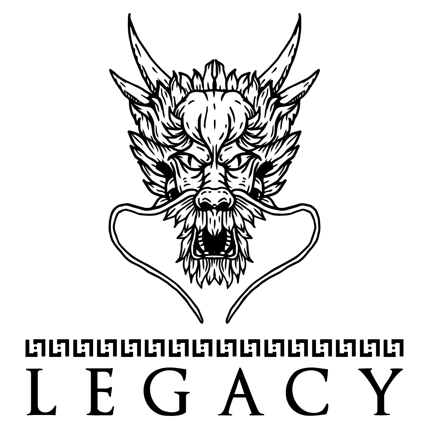 """Design a logo for a new clothing line """"Legacy"""" featuring a pattern."""