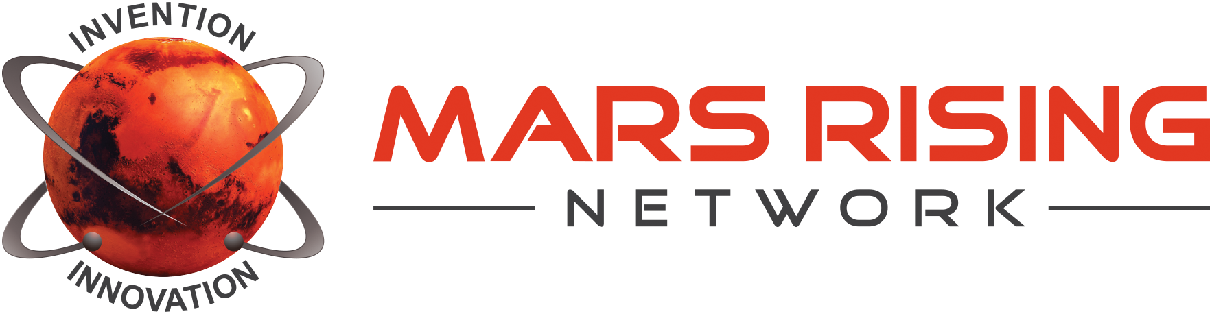 Create an exciting and professional logo for the Mars Rising Network!