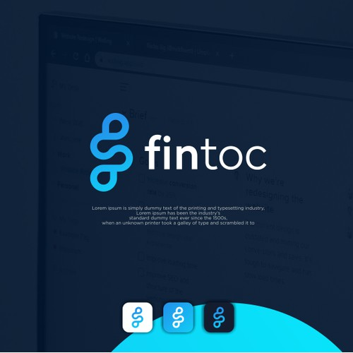 Design a logo for a fintech startup to appeal to devs