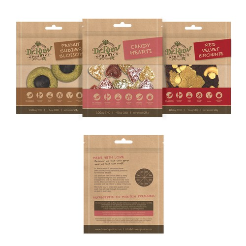 Packaging Design for Dr. Raw's Edible Products