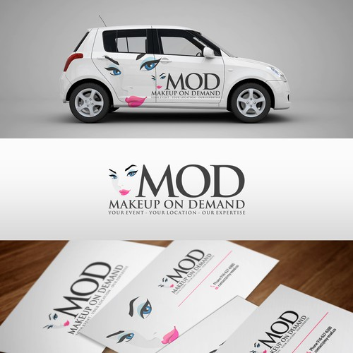 Create a logo for my mobile makeup company