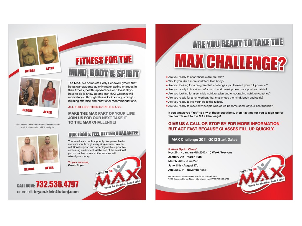 print or packaging design for MAX Fitness