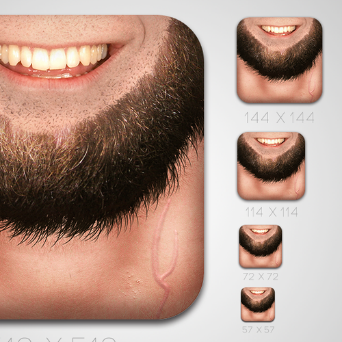 Icon Design for iOS Beardify Me