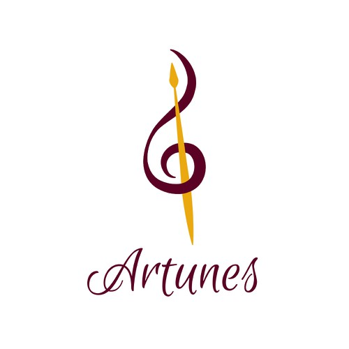 Feminine and elegant logo concept for art company