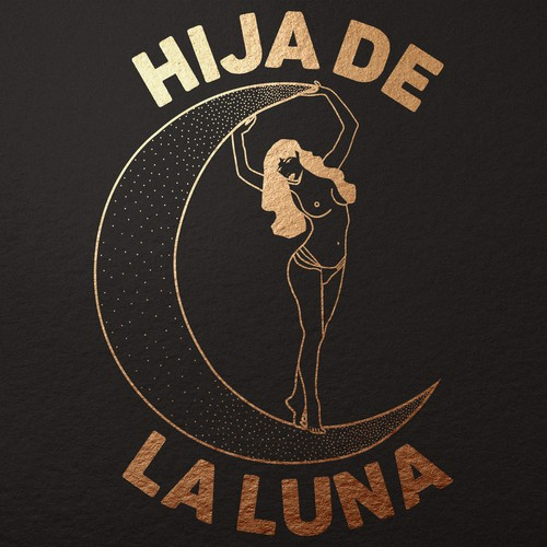 Hija de La Luna - Gold Illustration