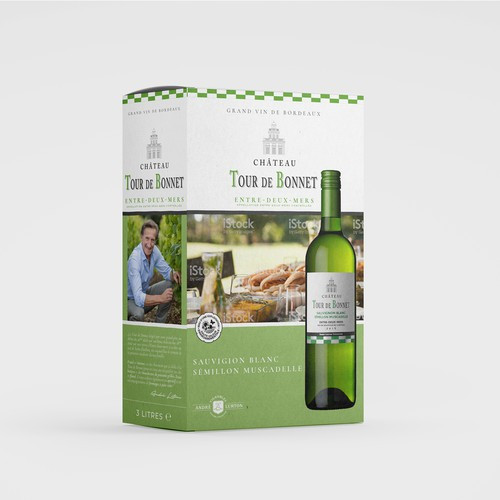 Bag-in-box wine packaging design