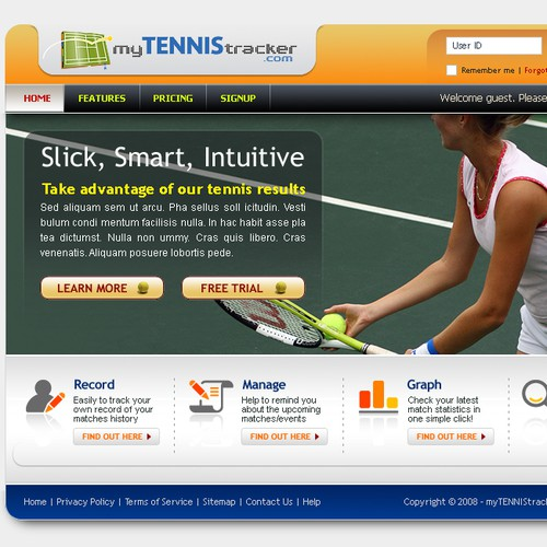 Tennis Website -- Guaranteed Payout!
