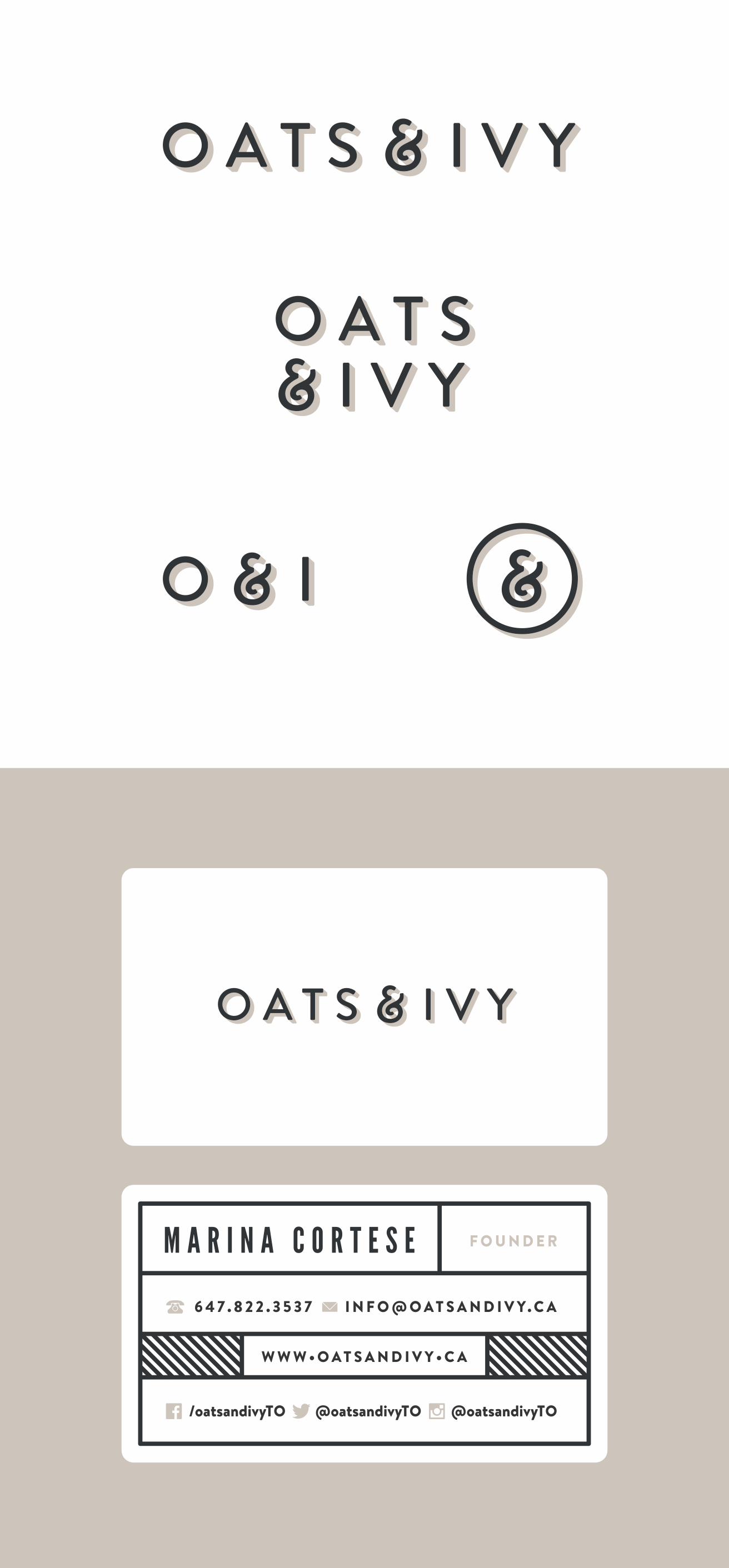 Oats & Ivy: fun, healthy, fast food brand needs a logo!