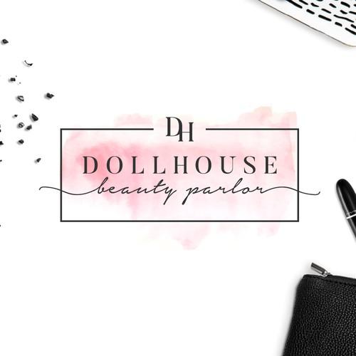 Feminine and luxurious logo and website for a beauty salon.