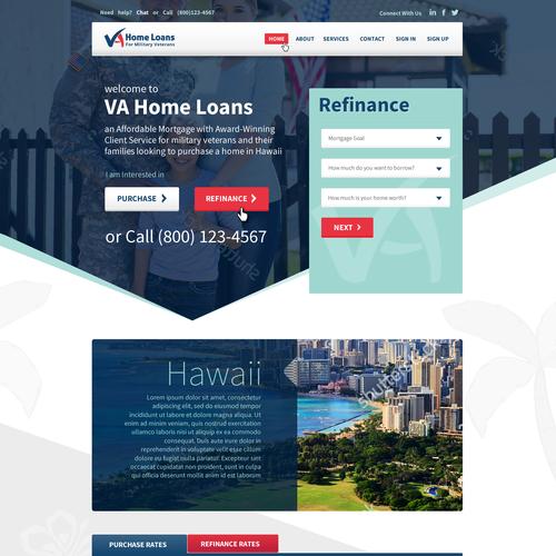 VA Home Loans Home Page Design...