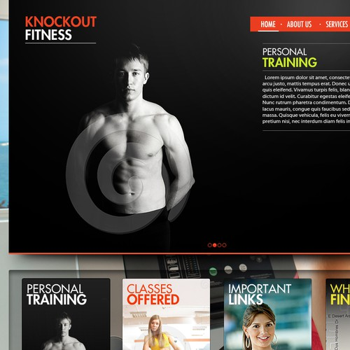 Help Knockouts Fitness with a new website design