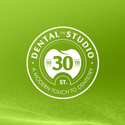 Create a modern logo design for The Dental Studio on 30th.
