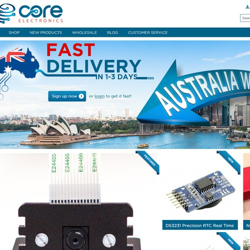 Create a banner which expresses fast postage Australia wide
