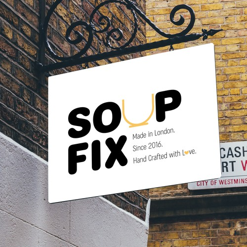 Logo for a British Modern Soup Brand