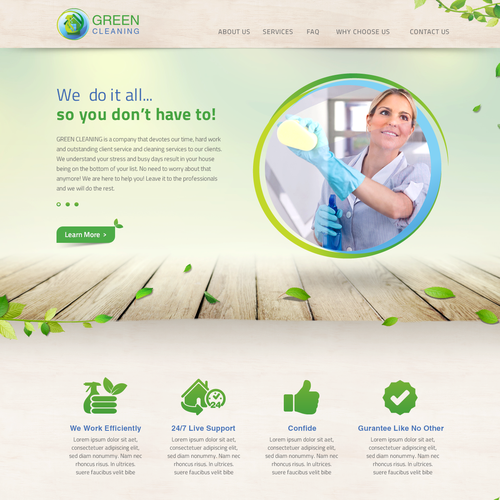 Create my website to be the BEST Green Cleaning wesbite.. I dare you!
