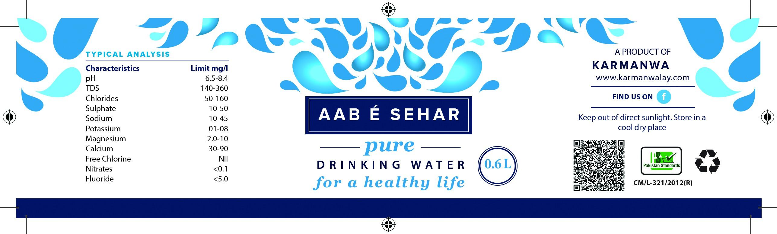 Label for bottled water