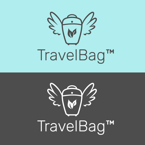 Simple and Clean logo for Eco Travel bag company