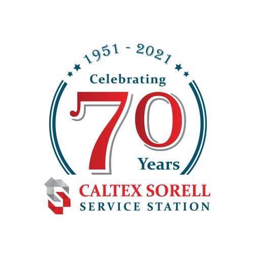 70 year anniversary branding enhancement