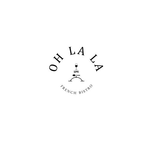 logo design concept for Oh La La French Bistro