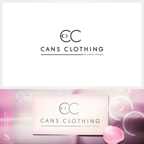 A sophisticated, tongue-in-cheek logo for Cans Clothing