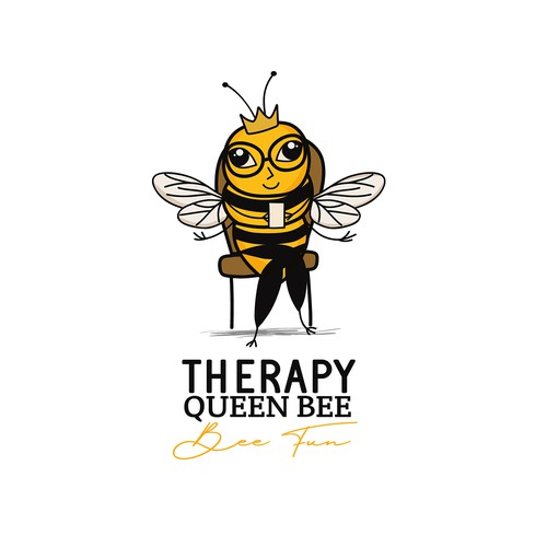 Funny logo for autistic children therapist
