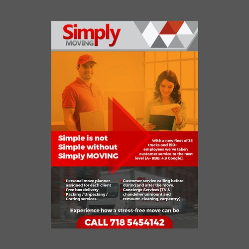 Simply moving flyer