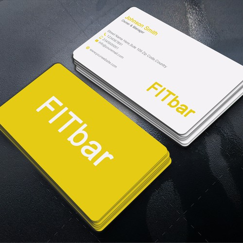 FITbar-Logo und eine Logo-Visitenkarte